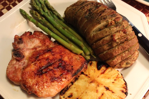 Hasselbach potatoes and asparagus completed the meal.