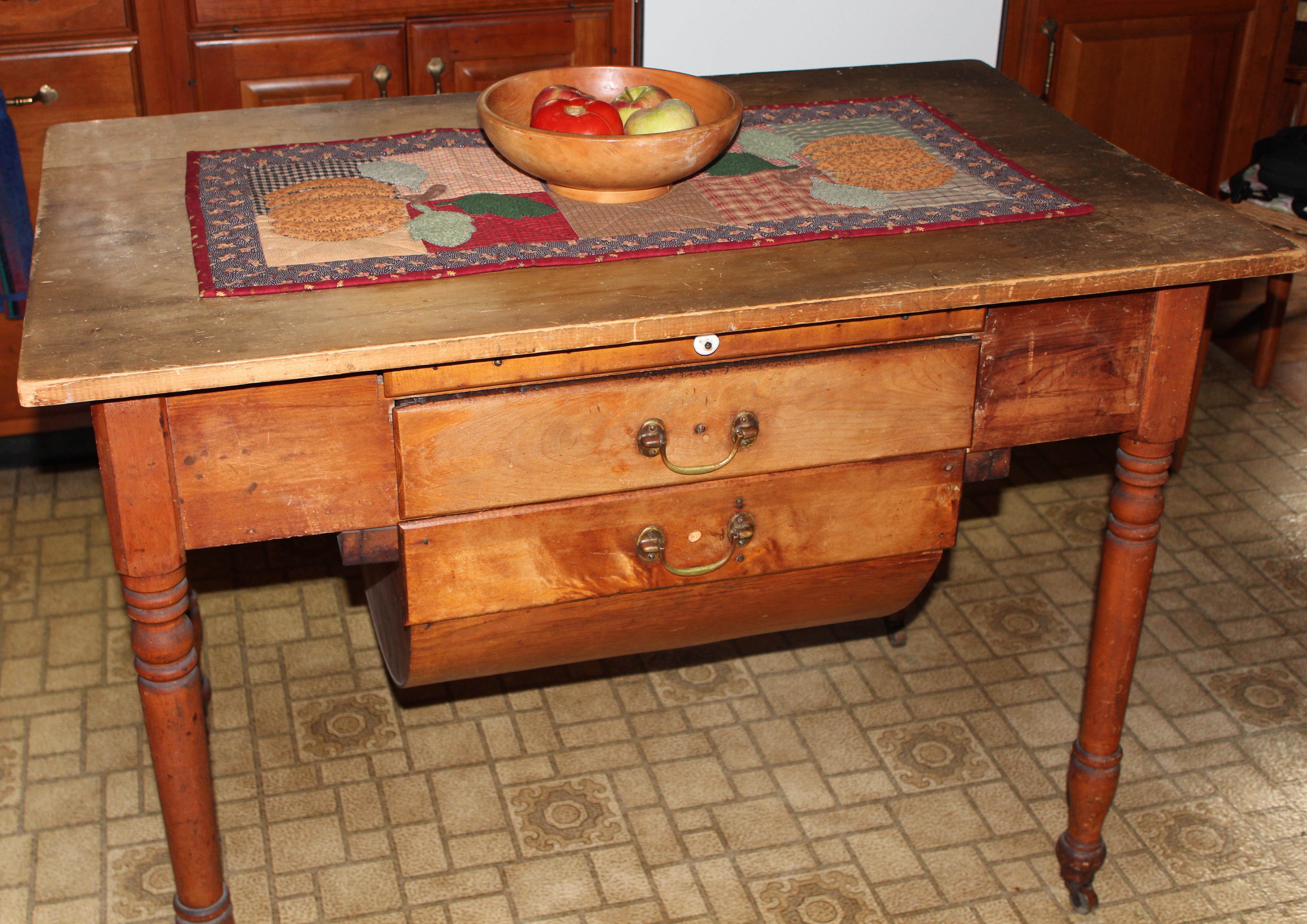 Antique Bakeru0027s Table