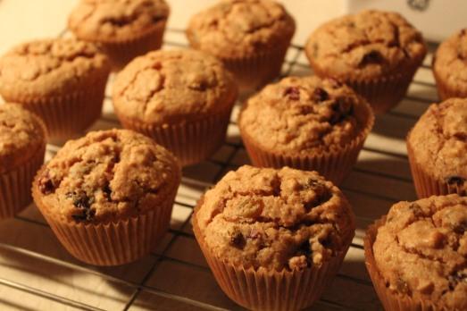 Rum Raisin Muffins after baking