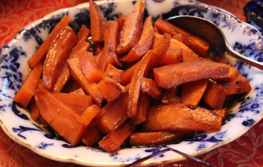Spiced Honey Glazed Sweet Potatoes