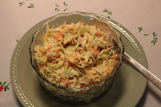 Creamy, Garlicy Cole Slaw
