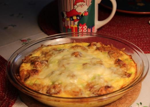 Sausage Polenta Breakfast Casserole