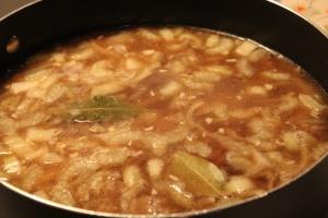 Add liquid and seasonings.