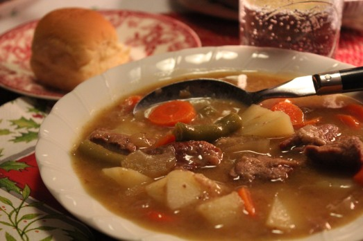 Comforting beef stew, so good on a cold day.