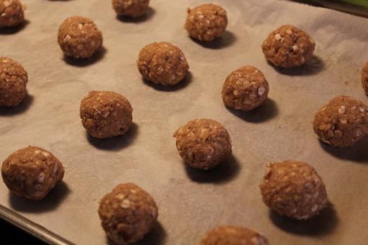 Form dough into small balls.