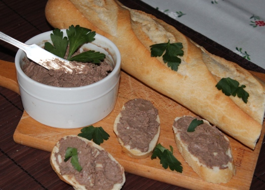 Chicken Liver Pate with Crostini