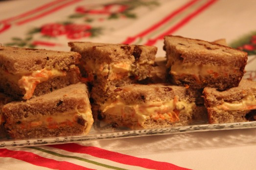 Carrot Raisin Bread Sandwiches