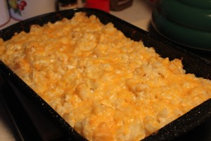 Creamy potato hash brown casserole.