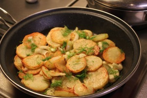 Braised Potatoes and Fennel