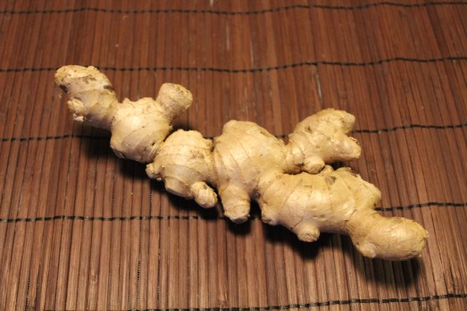 Fresh ginger:  a knobby, fleshy, root.