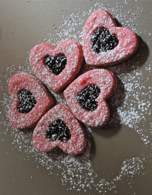 Jammy heart cookies.