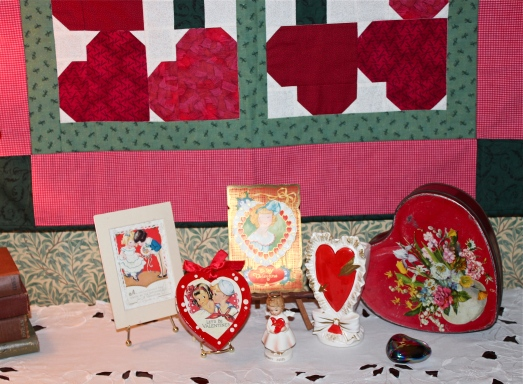 A small part of my collection of vintage valentine memorabilia.