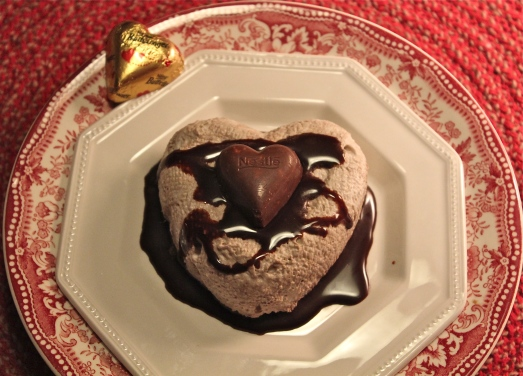 Chocolate cream hearts.  Arn't they pretty?
