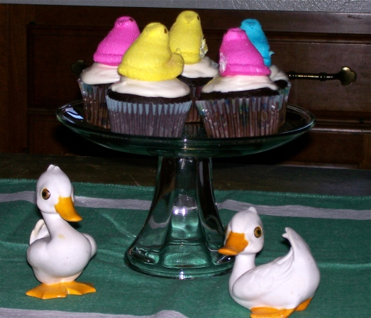 Chicks and ducks make us think of Easter and Spring.