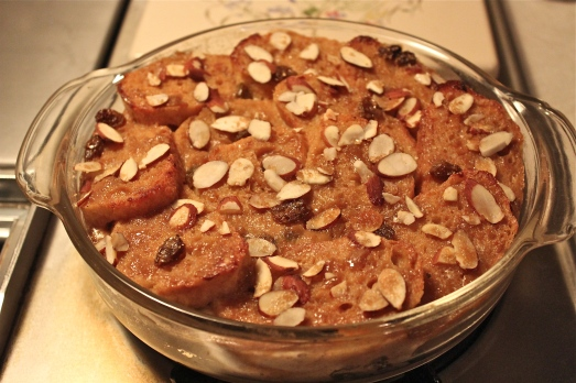 Bread Pudding, warm and custardy.
