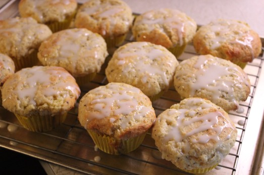 Drizzle lemon icing over cooled muffins.