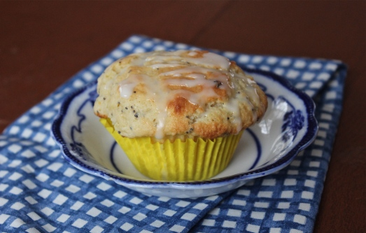 Lemon Poppyseed Muffins with lemon curd filling.