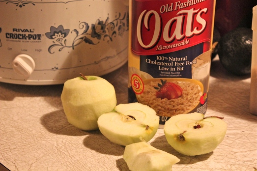 Apples, brown sugar, cinnamon and oatmeal.  What's not to like.