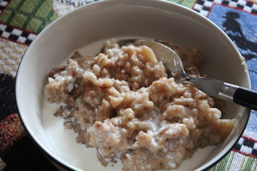 Slow cooker oatmeal.