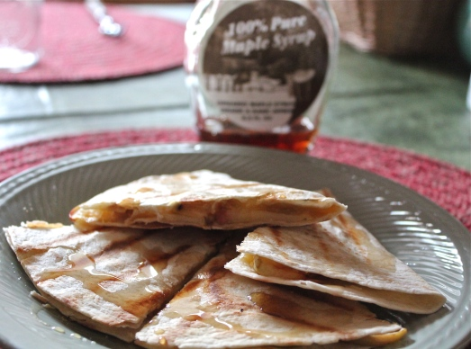 Serve with a drizzle of maple syrup.