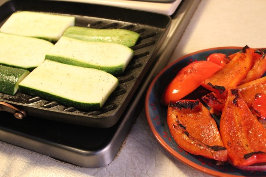 Grill the zucchini to get some nice grill marks.
