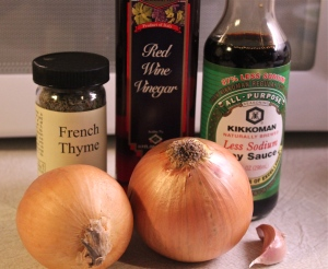 These seasonings really compliment the onions.