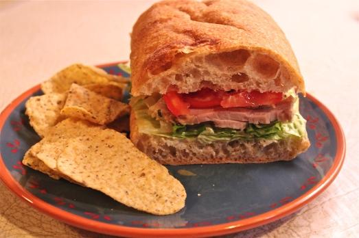A handful of sandwich.  So good!