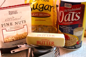 Make the crumb topping from these ingredients.