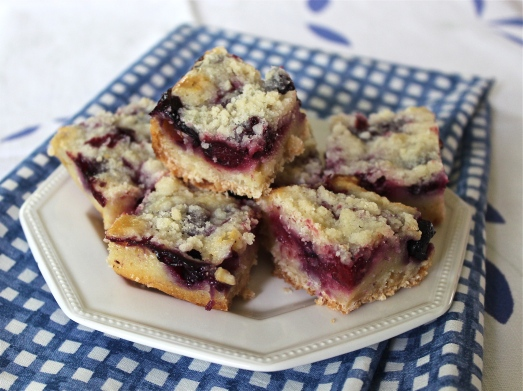Blackberry Pie Bars.
