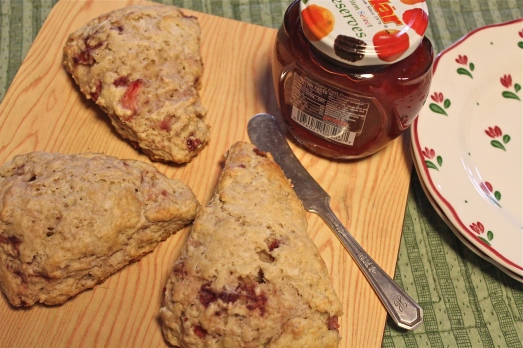 Strawberry and Cream Scones.