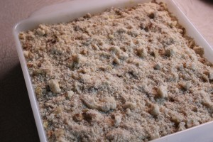 Crumb topping makes the top layer.