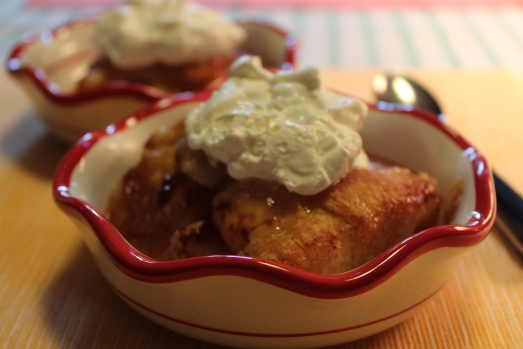 Peach Enchiladas, an easy, delectable dessert.