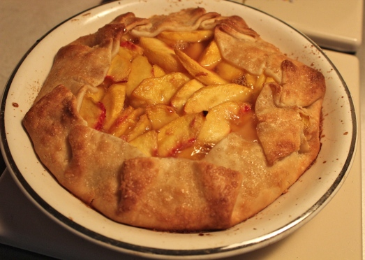 Fresh Peach Crostata.