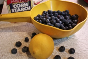 Blueberries and lemon, so good together.