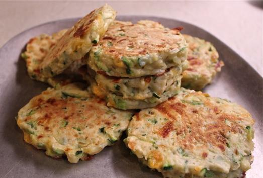 Zucchini-Cheese Pancakes