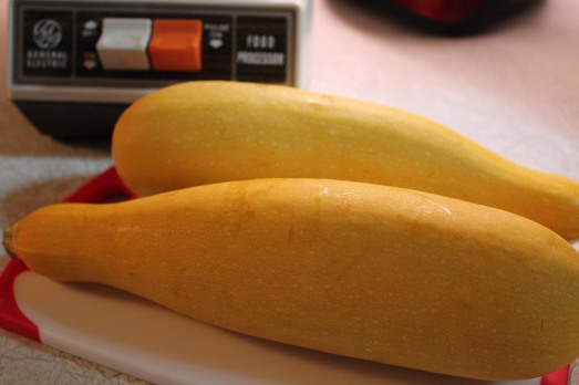 Yellow zucchini.