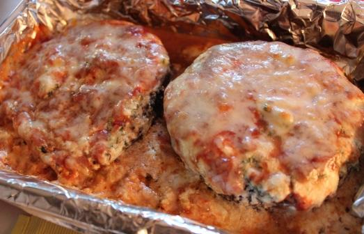 Lasagna-stuffed portabellos.