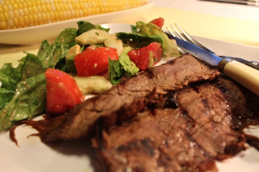 Grilled Flank Steak and Salad