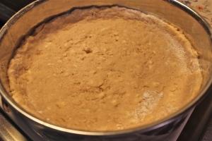 Press crust into bottom of pan.