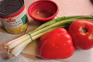 The veggie component plus the spice rub.