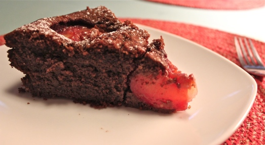 Tender and moist cake, juicy plums.