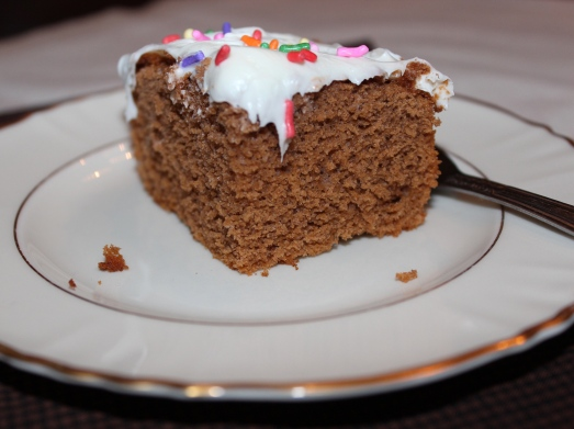 A moist and flavorful apice cake.