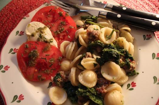 Italian Sausage, Oreccietti, and Broccoli Rabe.