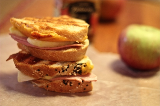 Ham and apple butter  panini.