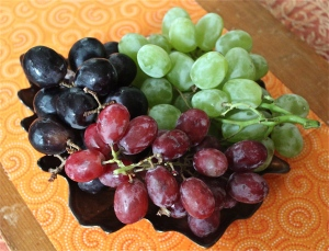 Grapes,  juicy and sweet.