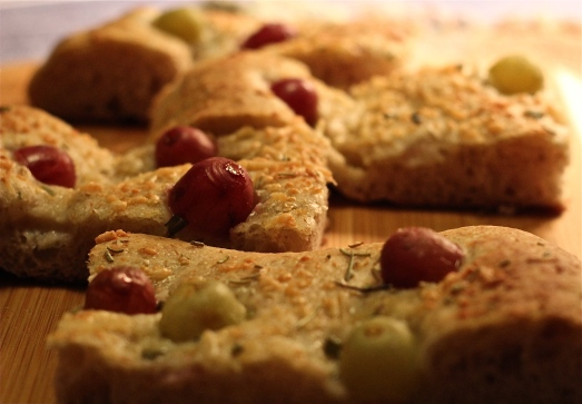 Grape and Rosemary Focaccia