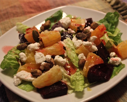 Beet and Orange salad with Goat Cheese