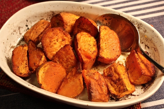 Old Bay Roasted Sweet Potatoes