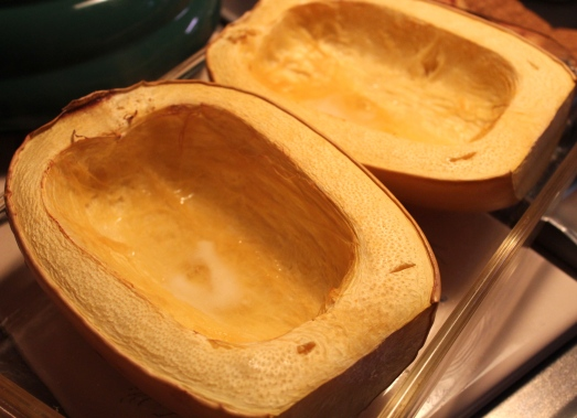 Roast the spaghetti squash.