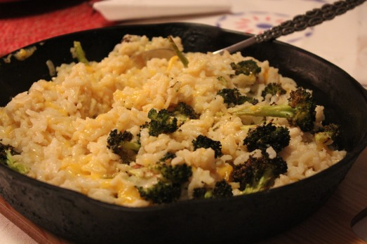 Broccoli-Cheddar Oven Risotto